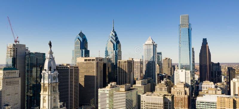 Baixa urbana Philadelphfia Pensilvânia do centro da cidade do núcleo imagem de stock royalty free