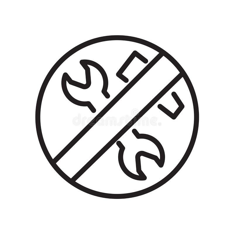 baixo ícone da manutenção isolado no fundo branco ilustração royalty free