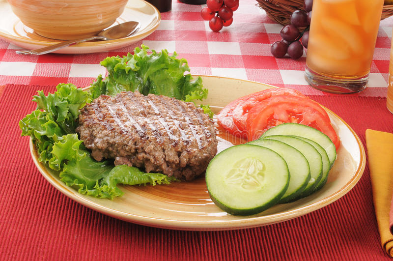 Baixo - almoço da dieta da caloria fotografia de stock