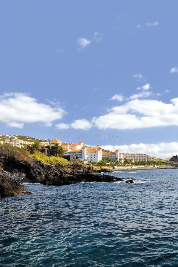 baixo canico linia brzegowa de Madeira zdjęcia stock
