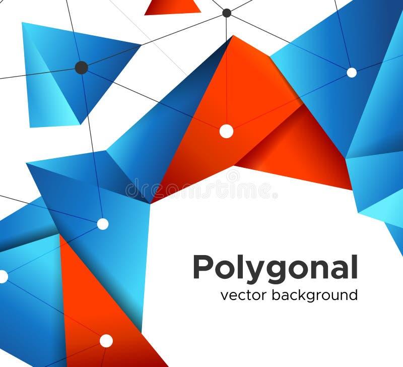 Baixo conceito de projeto geométrico poli superior da bandeira ilustração do vetor