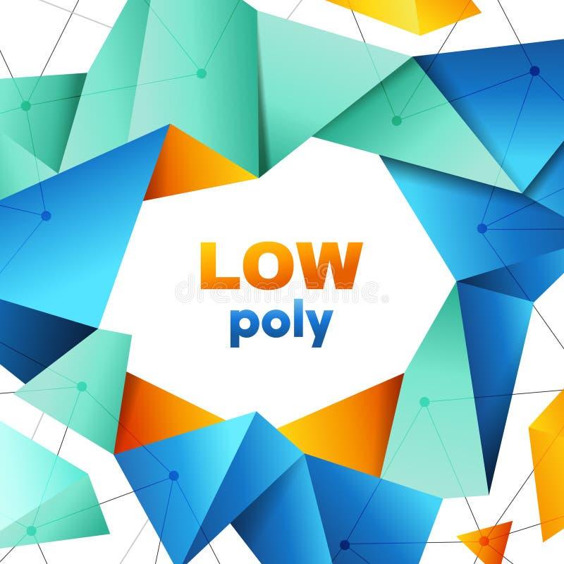 Baixo conceito de projeto geométrico poli superior da bandeira ilustração stock