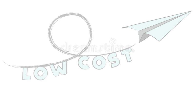 Baixo custo da mosca ilustração royalty free