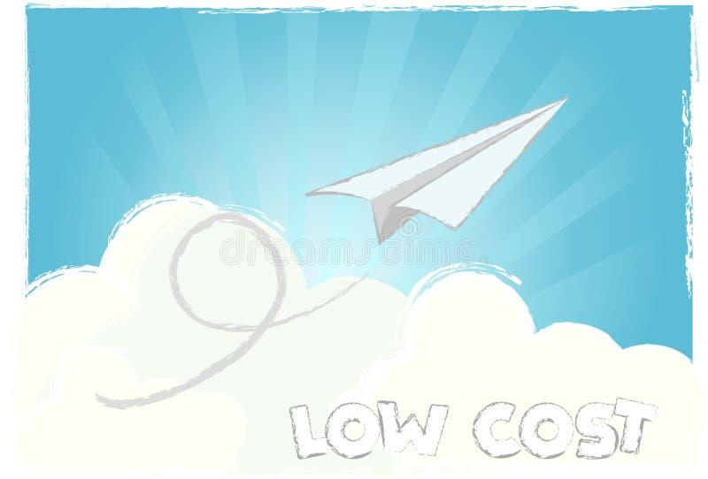Baixo custo da mosca ilustração stock