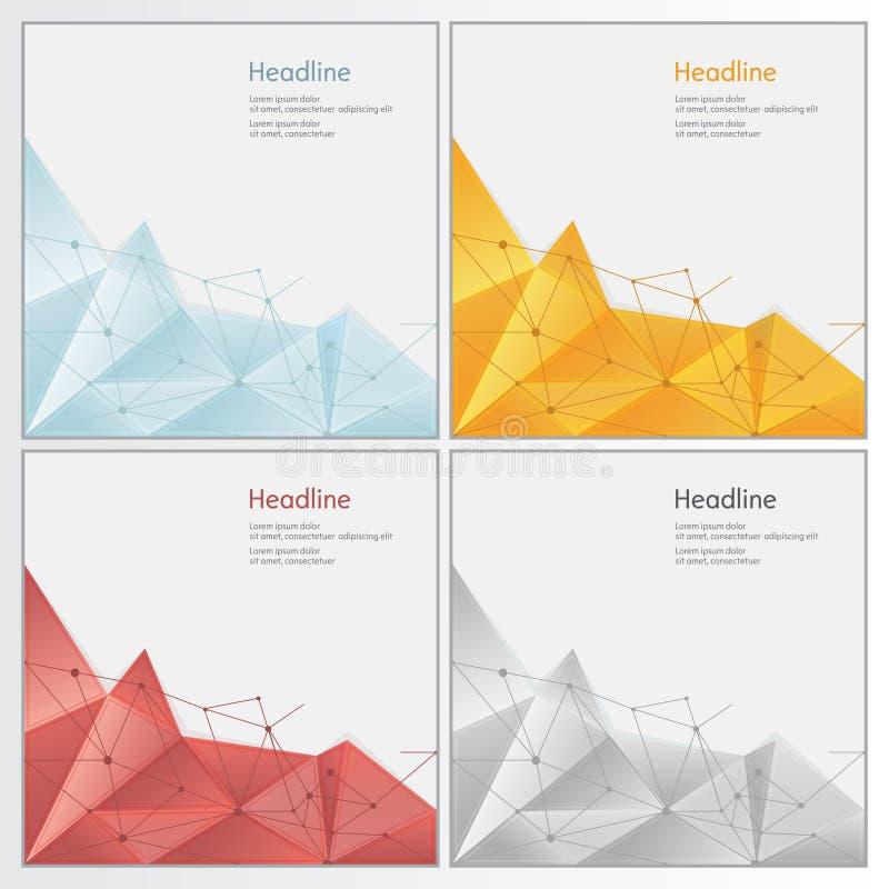 Baixo estilo poli triangular emaranhado geométrico ilustração royalty free