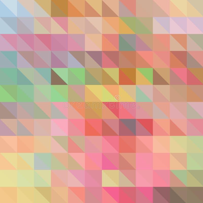 Baixo estilo poli triangular geométrico multicolorido Fundo do inclina??o ilustração do vetor