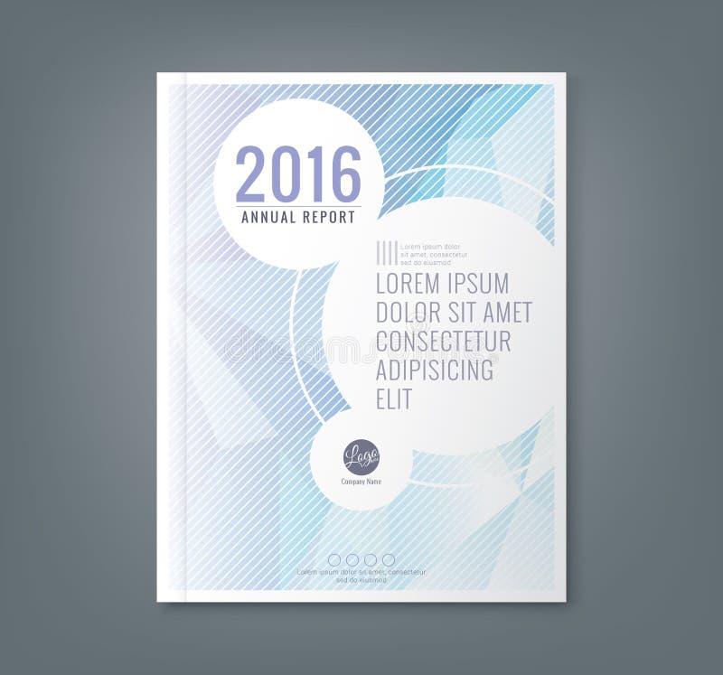 Baixo fundo abstrato da forma poligonal para a tampa do informe anual do negócio ilustração do vetor