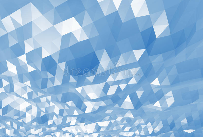 Baixo fundo 3d de superfície poli digital azul abstrato ilustração royalty free