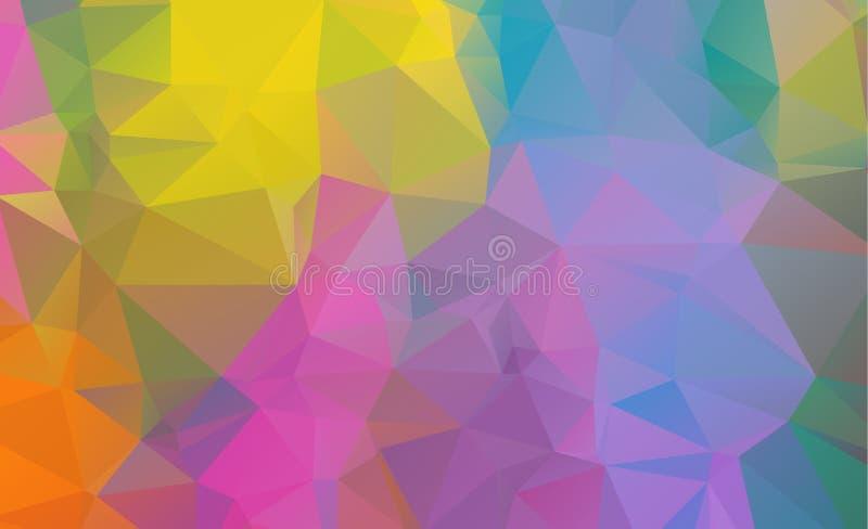 Baixo fundo geométrico poli que consiste em triângulos ilustração royalty free