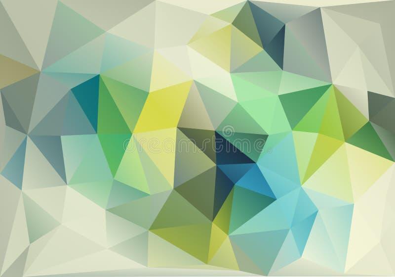 Baixo fundo poli azul e verde abstrato, vetor ilustração do vetor