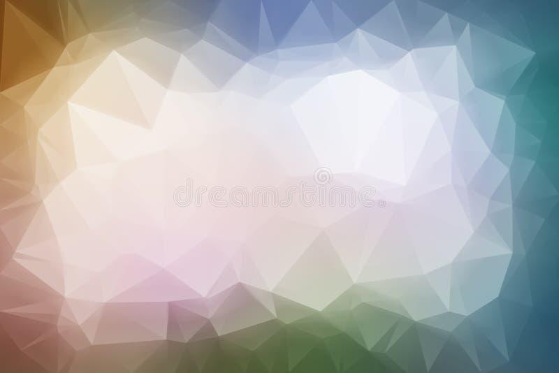 Baixo fundo poli colorido abstrato ilustração royalty free