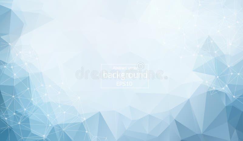 baixo fundo poli da conexão e dos pontos Projeto da tecnologia do vetor ilustração do vetor
