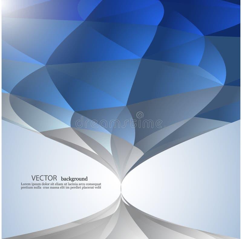 Baixo fundo poli triangular emaranhado geométrico abstrato azul do gráfico do estilo ilustração stock