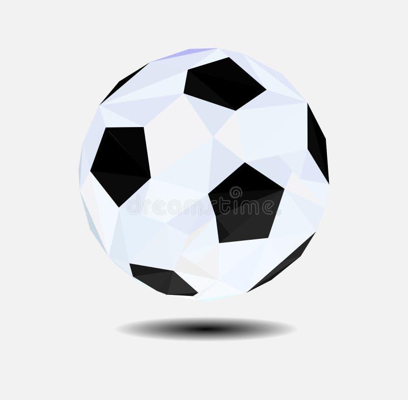 Baixo futebol poli abstrato, conceito geométrico, vetor ilustração stock
