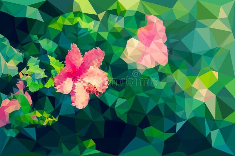 Baixo geométrico poli da flor do hibiscus ilustração royalty free