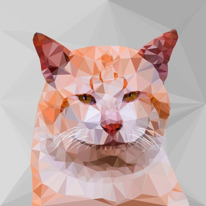 Baixo geométrico poli do gato ilustração royalty free