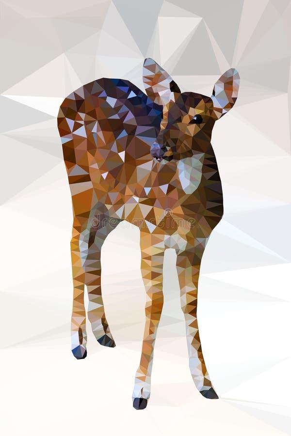 Baixo geométrico poli dos cervos ilustração stock