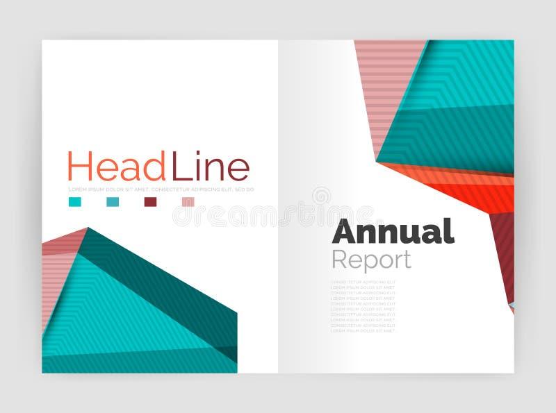 Baixo informe anual poli ilustração stock