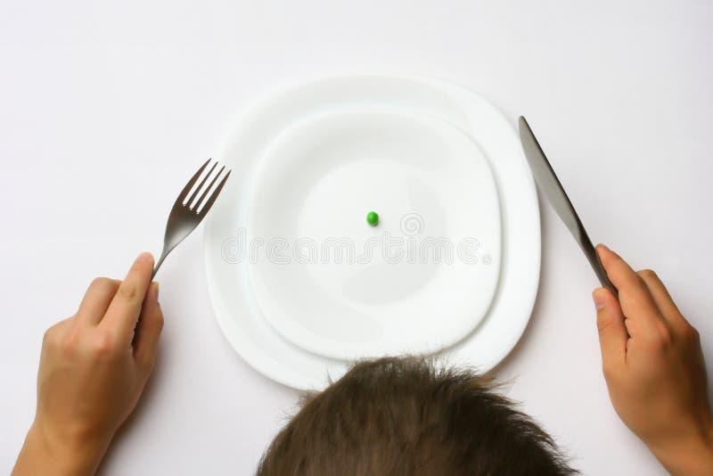 Baixo - jantar gordo imagens de stock royalty free