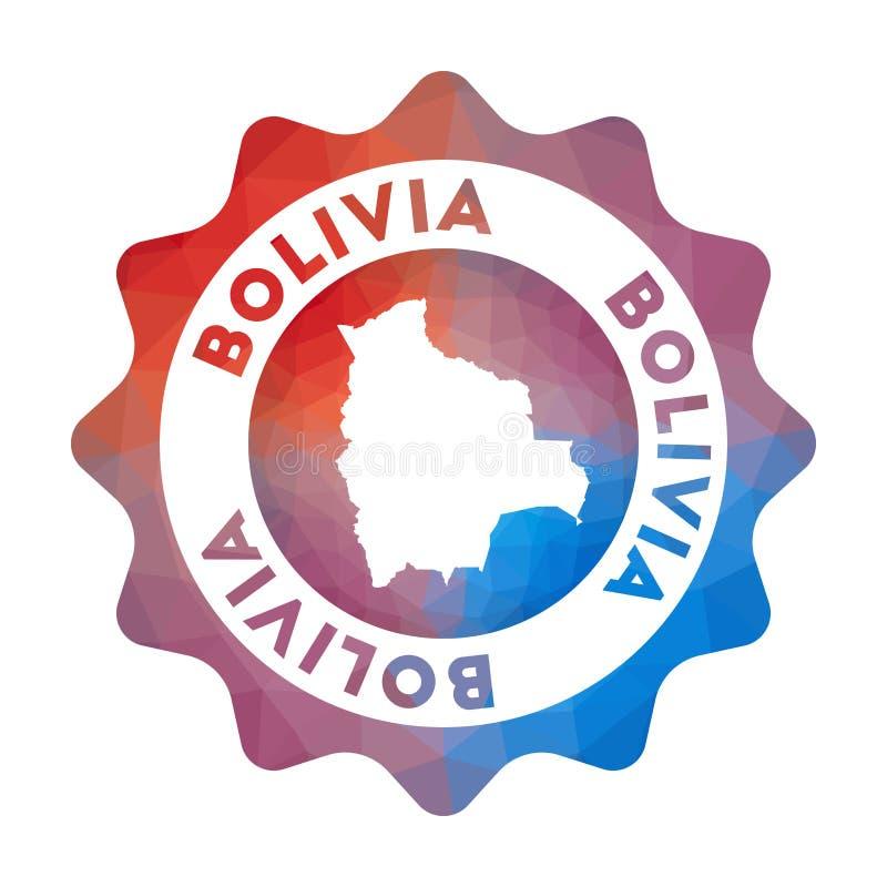 Baixo logotipo poli de Bolívia ilustração stock