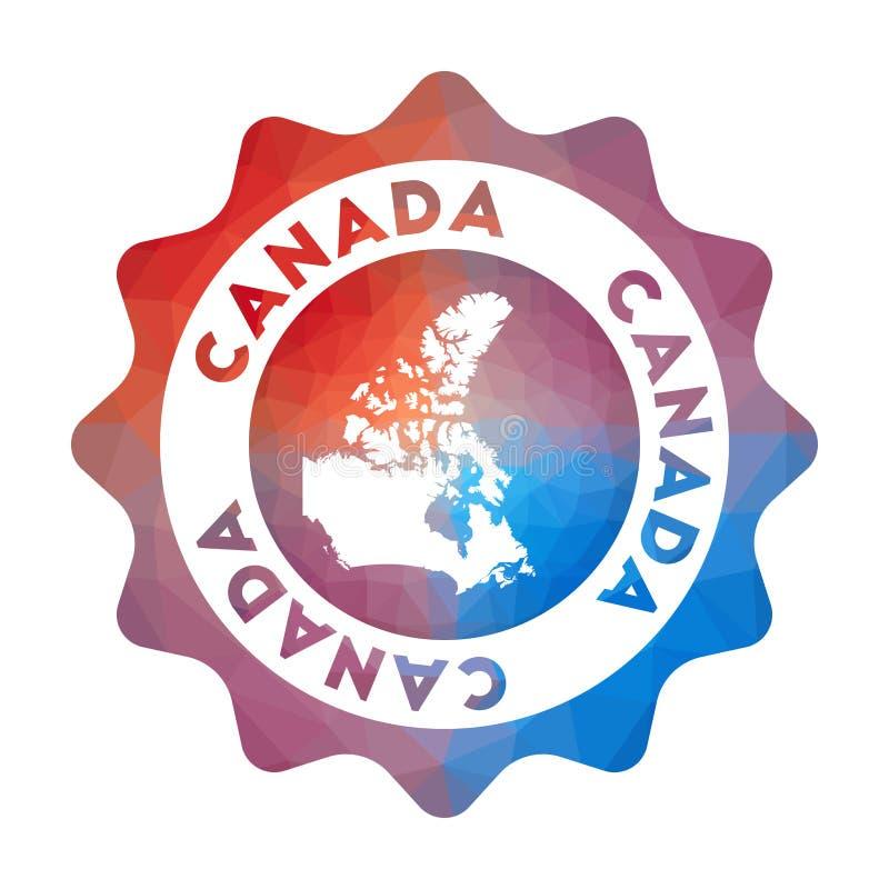 Baixo logotipo poli de Canadá ilustração stock