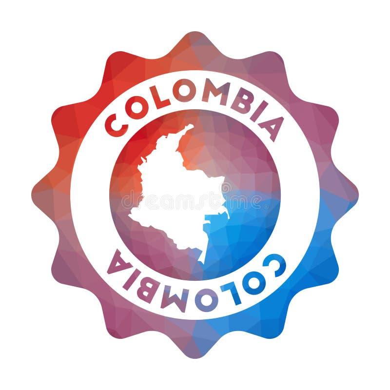 Baixo logotipo poli de Colômbia ilustração do vetor