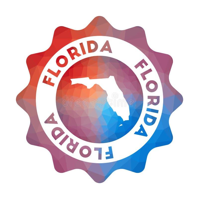 Baixo logotipo poli de Florida ilustração royalty free