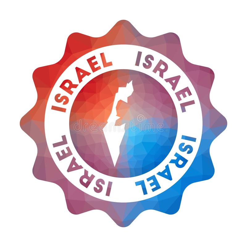 Baixo logotipo poli de Israel ilustração do vetor