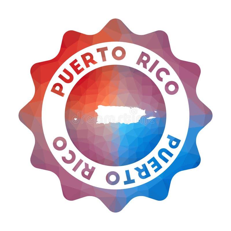 Baixo logotipo poli de Porto Rico ilustração royalty free