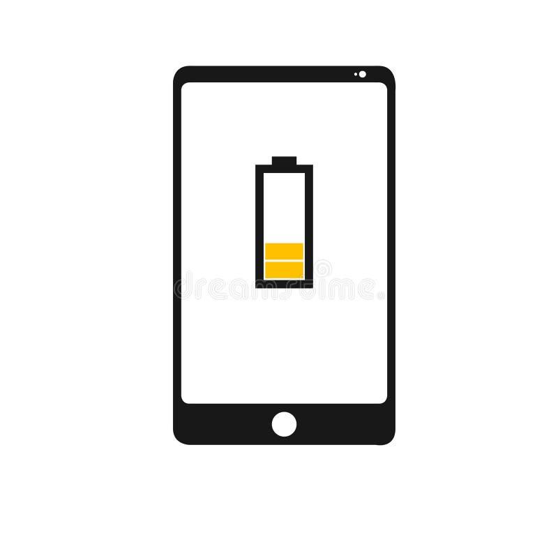 Baixo molde do telefone da bateria ilustração stock