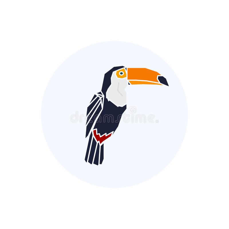Baixo pássaro poli Logotipo de Toucan ilustração do vetor