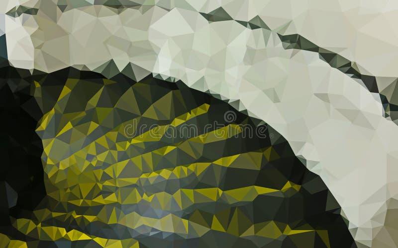 Baixo papel de parede abstrato da cor do polígono foto de stock royalty free