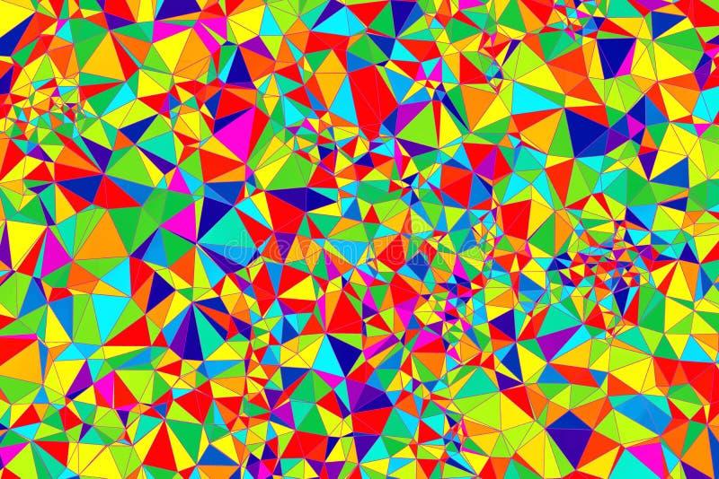 Baixo projeto poli colorido ilustração stock