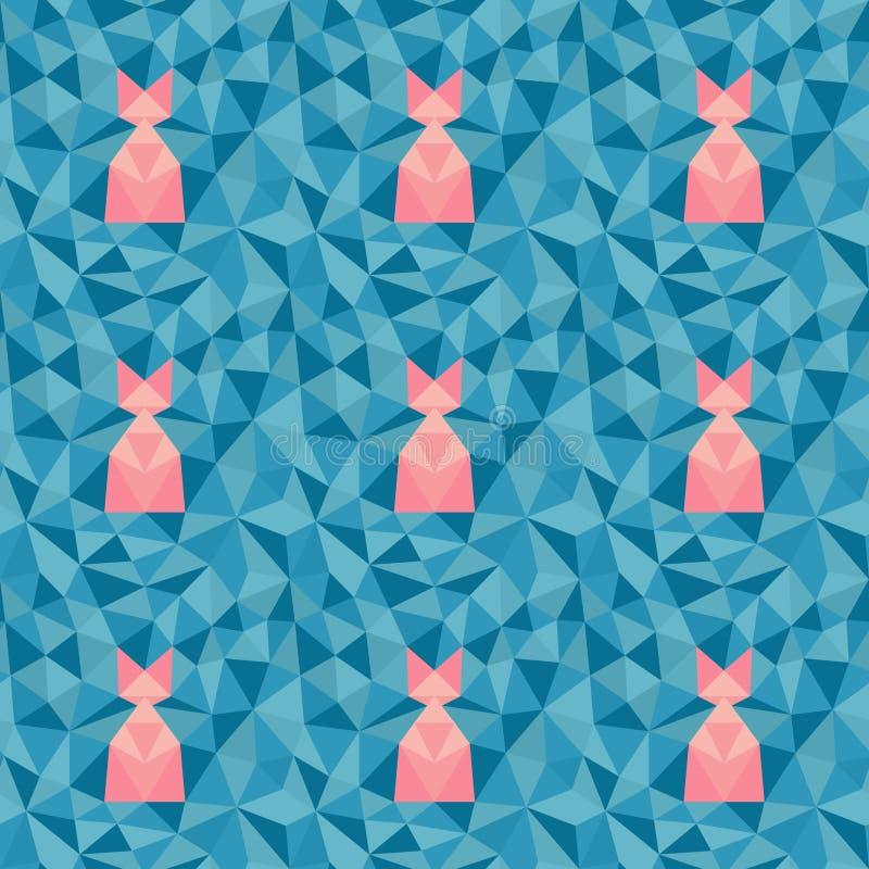 Baixo teste padrão geométrico poli ilustração royalty free