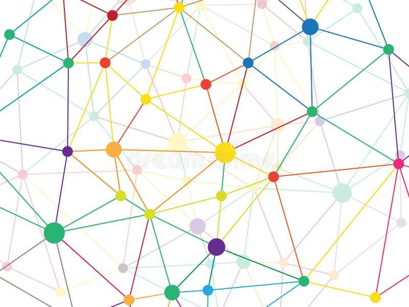 Baixo teste padrão geométrico poli triangular emaranhado da rede do verde de grama do estilo abstraia o fundo Molde da ilustração ilustração do vetor