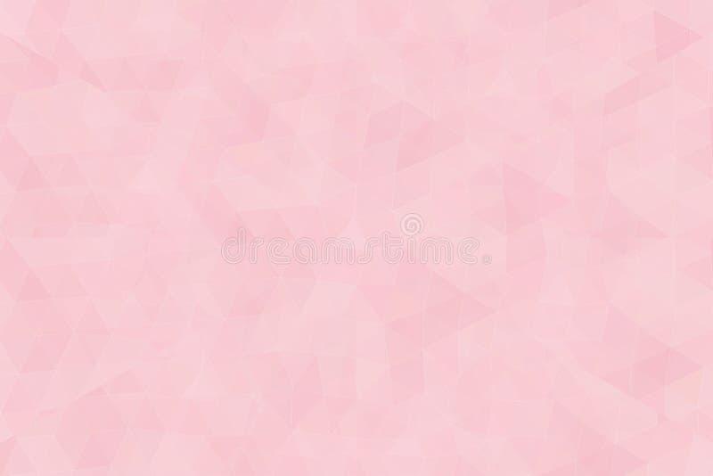 Baixo triangular poli geomatric colorido cor-de-rosa como um sumário ilustração royalty free