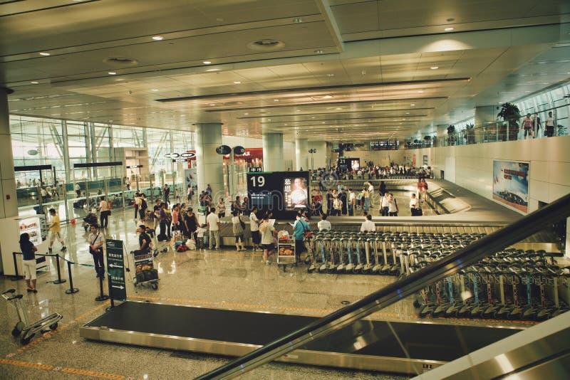Guangzhou, China - June 25, 2018: Baggage claim at Guangzhou airport. stock image