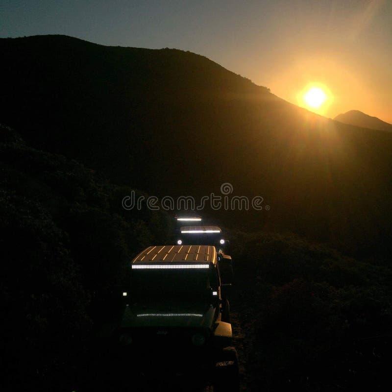 Baja захода солнца стоковая фотография