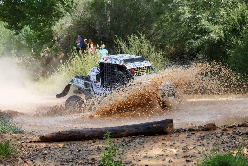 Baja Aragon 2014. XXXI Competition Edition Baja Aragon (Spain), FIA World Cup for Cross Country Rallies stock photo