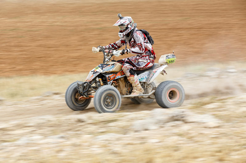 Baja Aragon 2014. XXXI Competition Edition Baja Aragon (Spain), FIA World Cup for Cross Country Rallies stock images