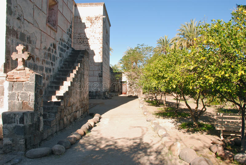 Baja California garde ignacio mexico kloster san royaltyfri bild