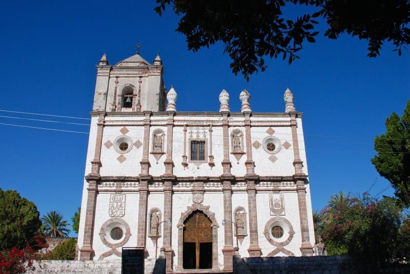 Baja California kapell ignacio mexico san royaltyfri foto