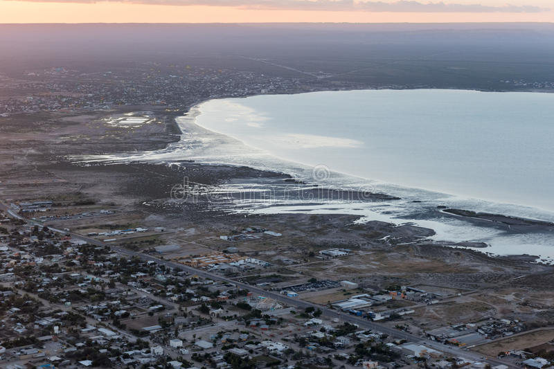 Baja California Sur Mexico aerial view royalty free stock photography