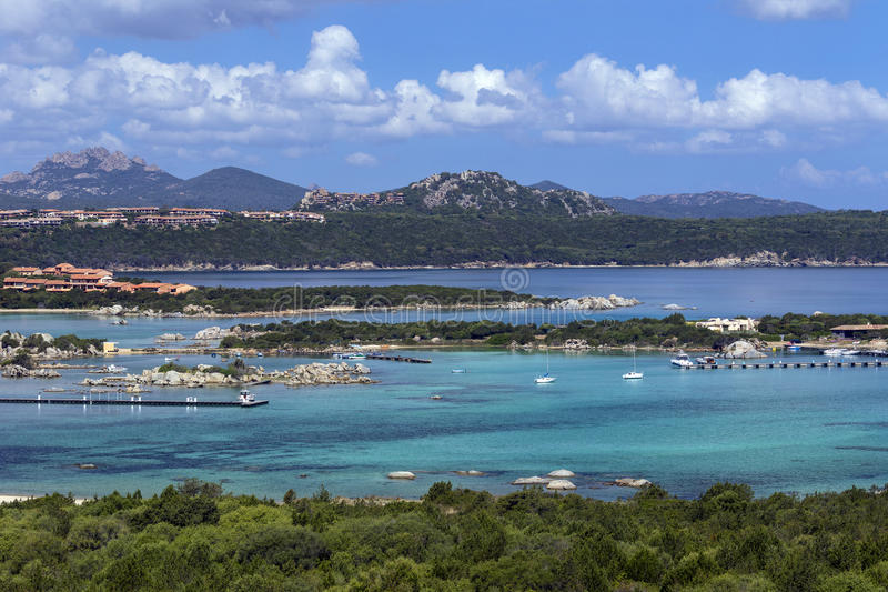 Baja Sardinia - The Island of Sardinia - Italy stock images