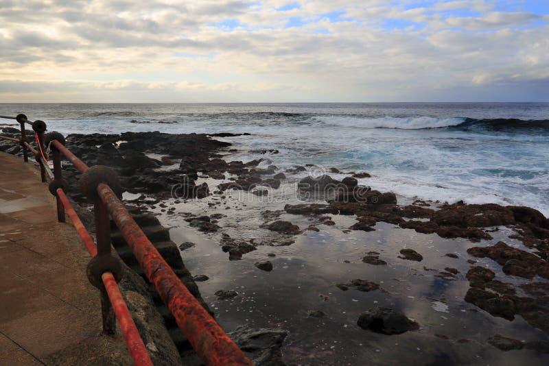Bajamar海岸 免版税图库摄影
