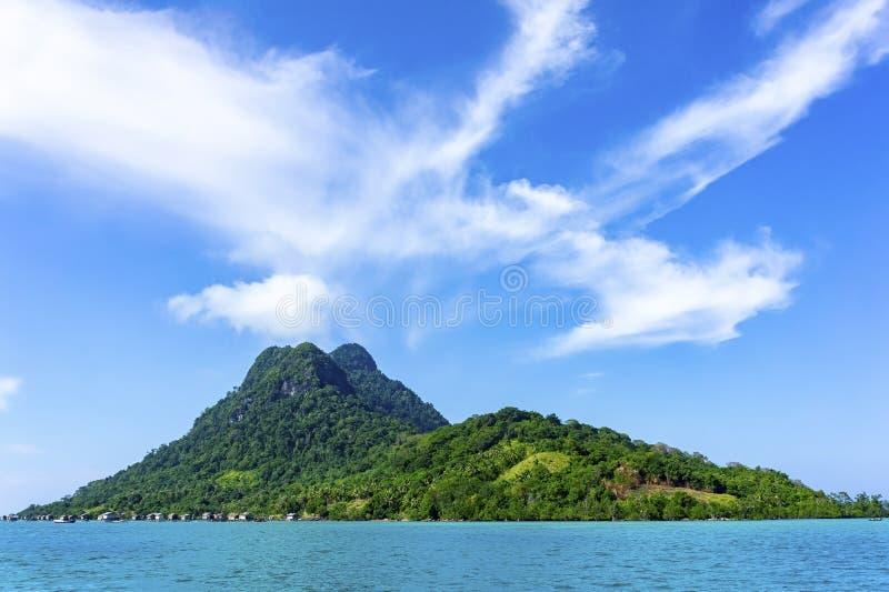 Bajau传统村庄 库存图片