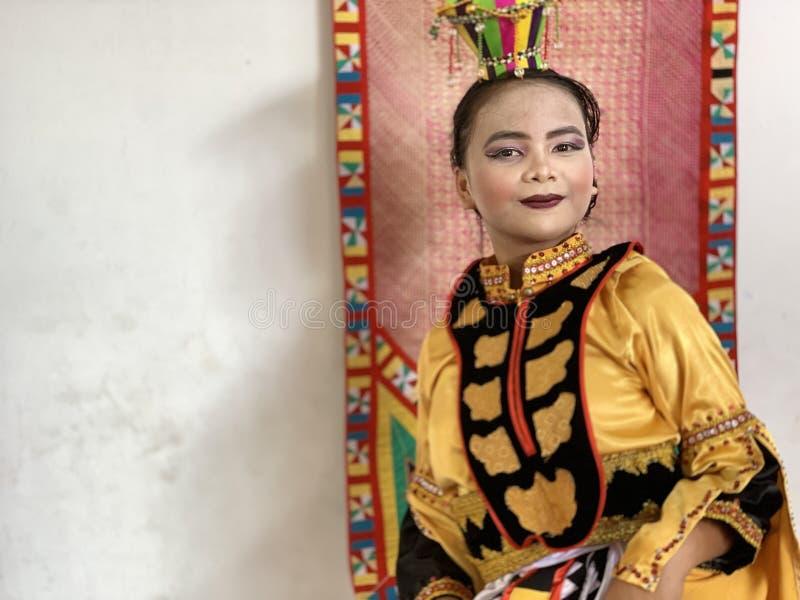 Bajau dziewczyna, Sabah zdjęcia stock