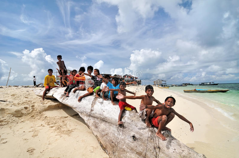 Bajau kids stock photos