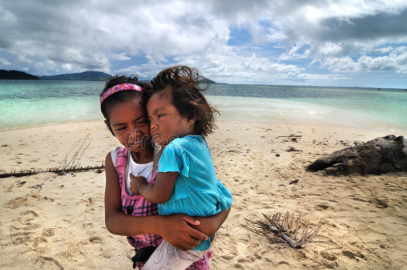 Bajau kids stock images