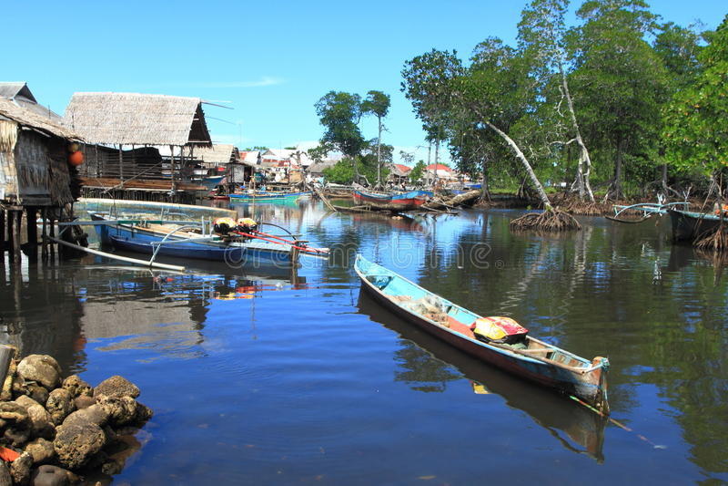 Bajaudorp, het Noorden Sulawesi royalty-vrije stock afbeeldingen